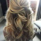 Half up and down hairstyles for a wedding