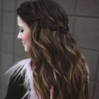 Half up and down hairstyles