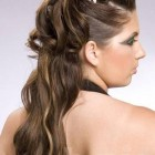 Half up and half down curly hairstyles