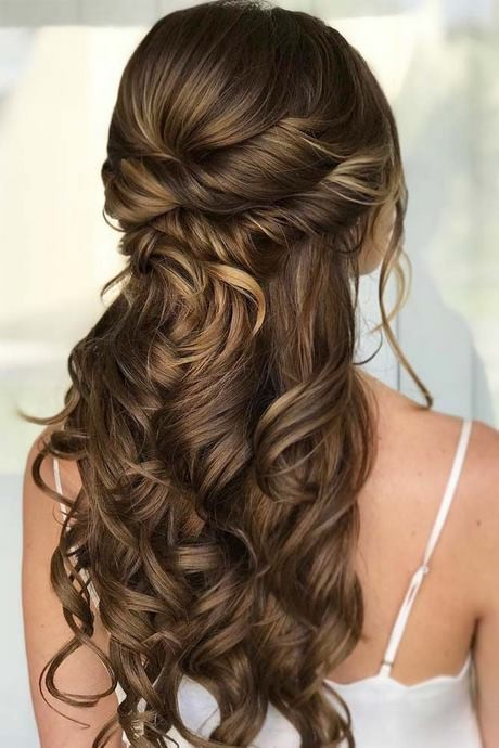 Half up and half down hairstyles for prom