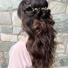Half up half down curly prom hairstyles