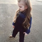 Half up half down hairstyles for kids