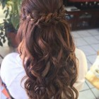 Half up prom hairstyles for long hair