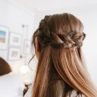 Half updos for long straight hair
