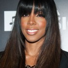 Long weave with bangs