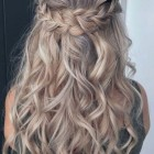 Part up part down hairstyles