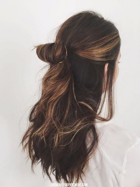 Quick and easy half up hairstyles