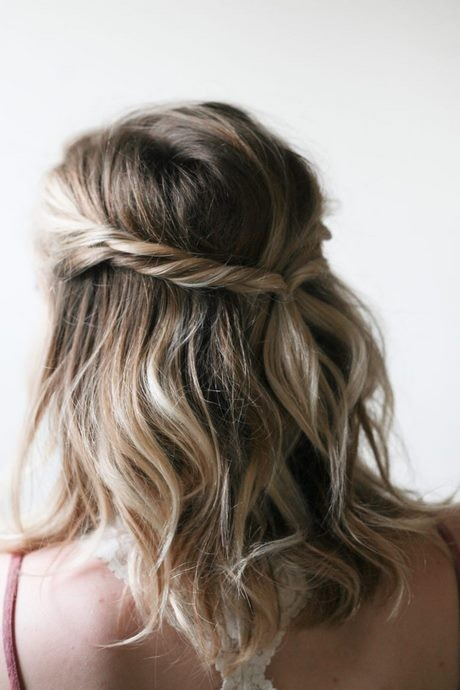 Quick and easy half up half down hairstyles