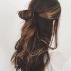 Quick half up hairstyles