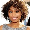 Short curly weave with bangs