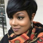 Short haircuts with weave