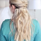 Simple half updos for long hair