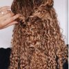 Some up some down curly hairstyles