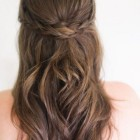 Updos half up and half down