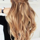 Wavy down hairstyles