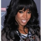 Wavy weave with bangs