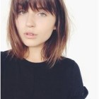 Collarbone length hair with bangs