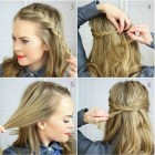 Everyday hairdos for medium hair