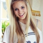 Everyday hairstyles for long straight hair