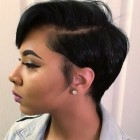 Short hairstyles on black hair