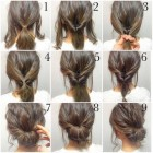 Simple updo hairstyles