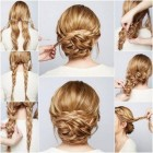 Thick long hair updo