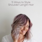 Ways to style mid length hair