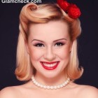 50s style hair and makeup