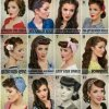 50s updos for long hair