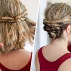 Cool updos for short hair