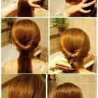 Different and simple hairstyles at home