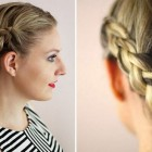 Easy braid updo for short hair