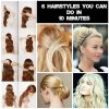 Easy on the go hairstyles