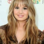 Fringes haircut for round face