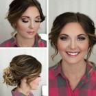 Hair updo for round face