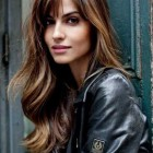 Haircut style for long hair with bangs