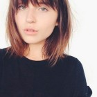 Haircut with bangs for round face