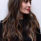 Hairstyles for bangs and long hair
