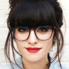 Hairstyles for girls with bangs