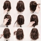 Half up half down hairstyles for short straight hair