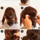 Holiday updos for short hair