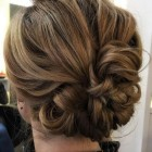 Loose updos for short hair