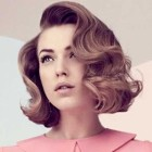 Retro hairstyle for short hair