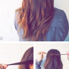 Simple and easy hairstyle at home
