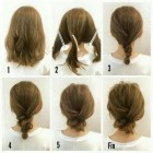 Simple hair up for short hair