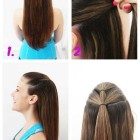 Simple hairstyle at home