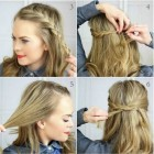 Simple hairstyles for girls with medium hair