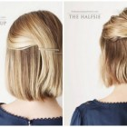 Some simple hairstyles for short hair