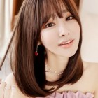 Straight hair with bangs