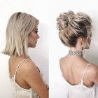 Super short hair updos